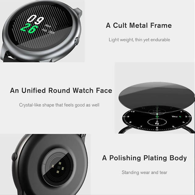 Haylou Solar LS05 Smartwatch Fitness Tracker with Free Tempered Glass