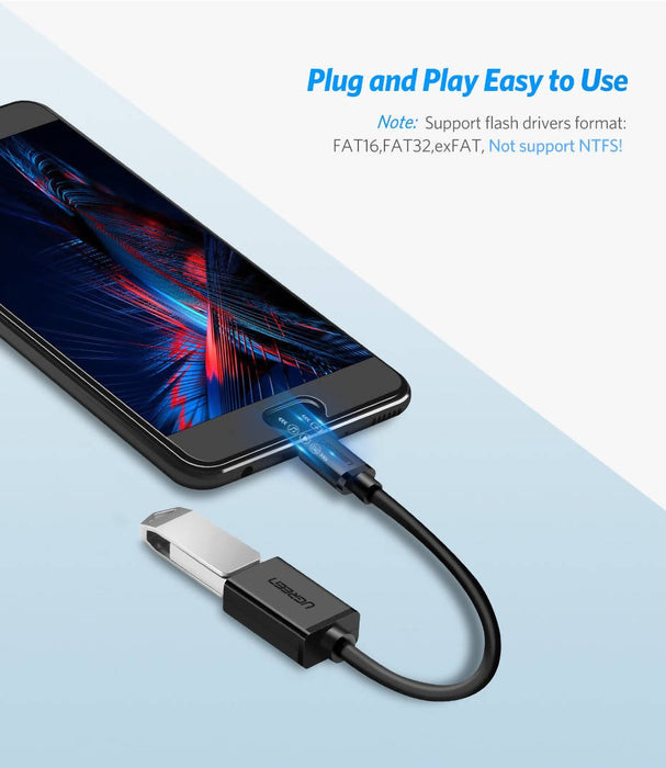 Micro-USB 2.0 to USB OTG Cable