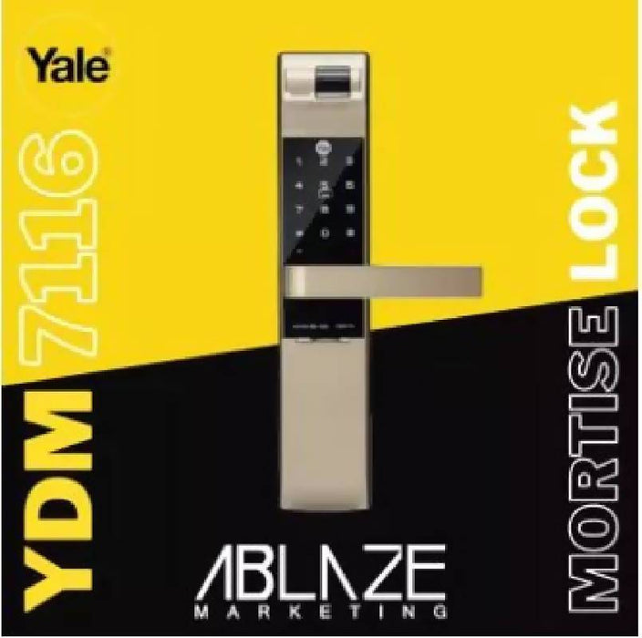 Yale Digital Door Lock YDM7116 MORTISE TYPE SMART LOCK (Champagne Gold)