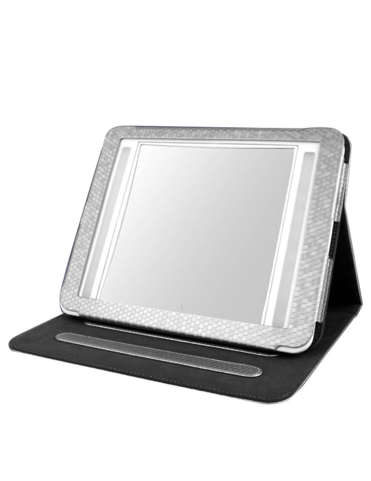 Vantibasics 22cm Double-Sided Bright Illuminated LED Mirror with Leather Case (IM2419)