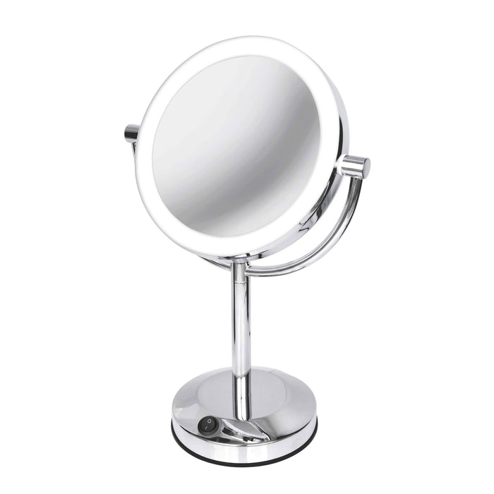 Vanitibasics 7.5'' Double-Sided Super Bright LED Mirror with Bright Chrome Finish (ED19T51)