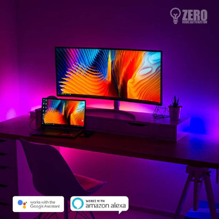 Zero Smart 5meters RGB LED Light Strip with WiFi controller and IP65 Waterproofing