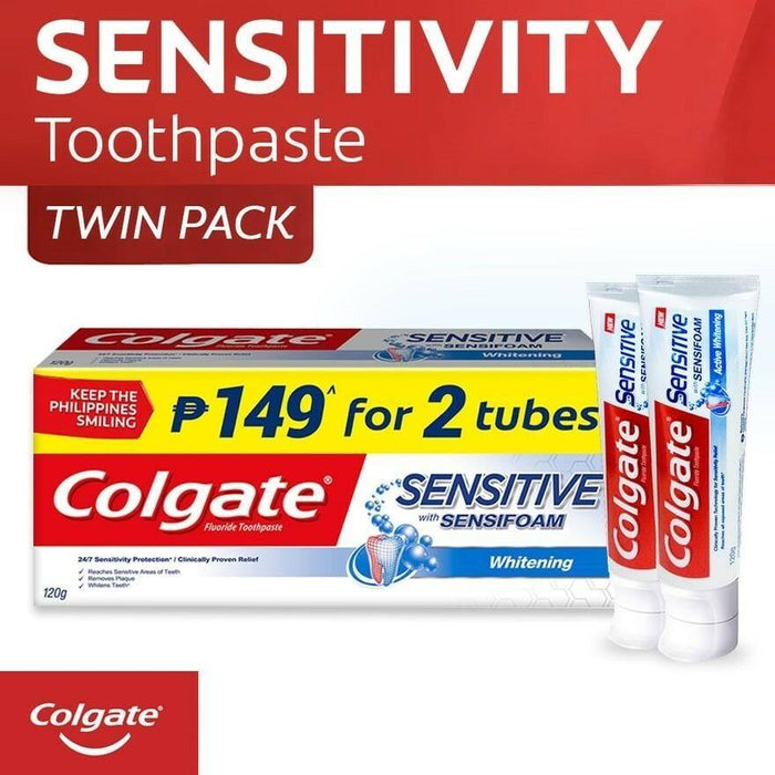 COLGATE (Sensitive with Sensifoam Toothpaste 120g Twin Pack)