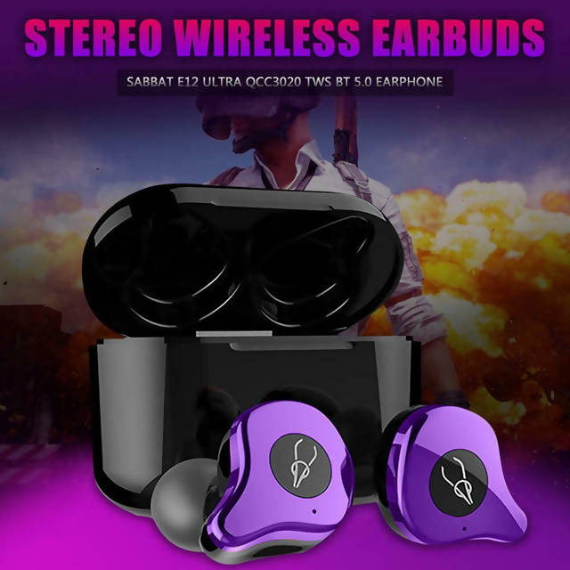 Sabbat E12 Ultra Metallic TWS True Wireless Earphones with Freebies