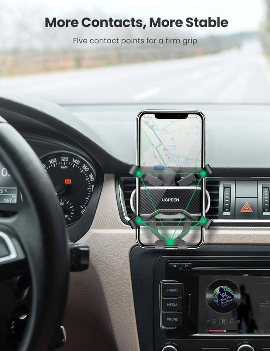 UGREEN Air Vent Car Mount Phone Holder with Arc-Shaped Mounting Clip