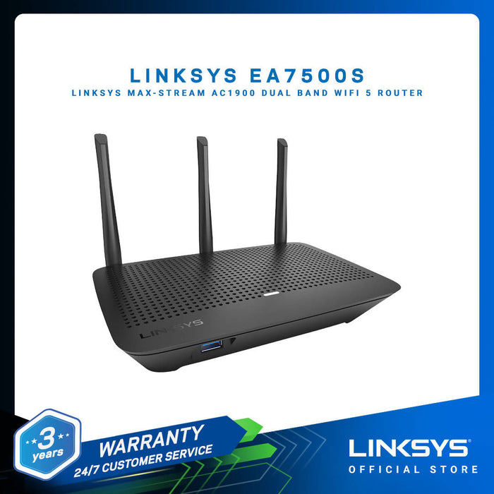 LINKSYS EA7500S (AC1900) MAX-STREAM Dual Band WiFi 5 Router
