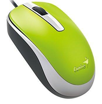 Genius Classic Wired Optical Mouse, Green (DX-120green) - Poundit