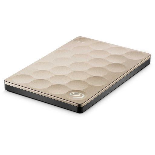 Seagate Backup Plus Ultra Slim (1TB) - Gold - Poundit