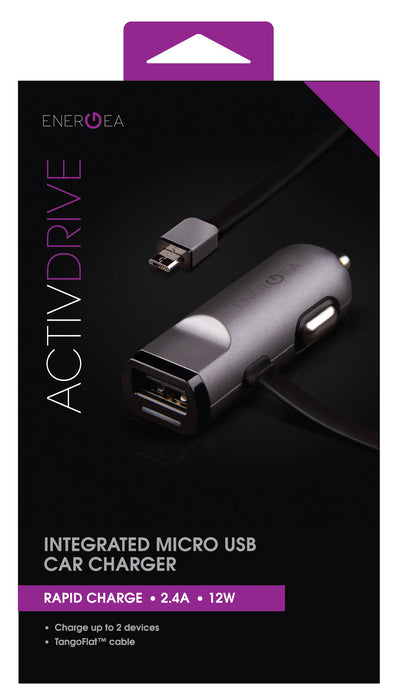 Energea Activ Drive Intergrated MicroUSB Cable Car Charger