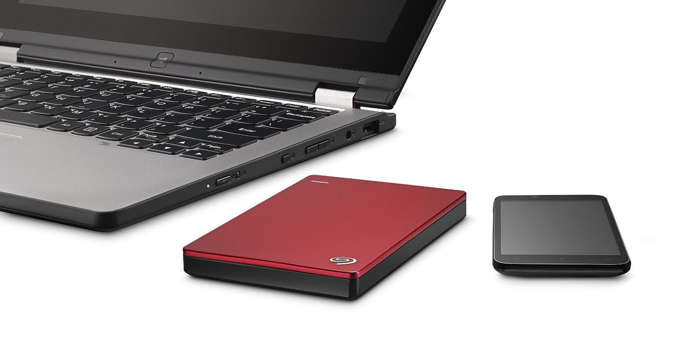Seagate Backup Plus Slim (2TB) - Red - Poundit