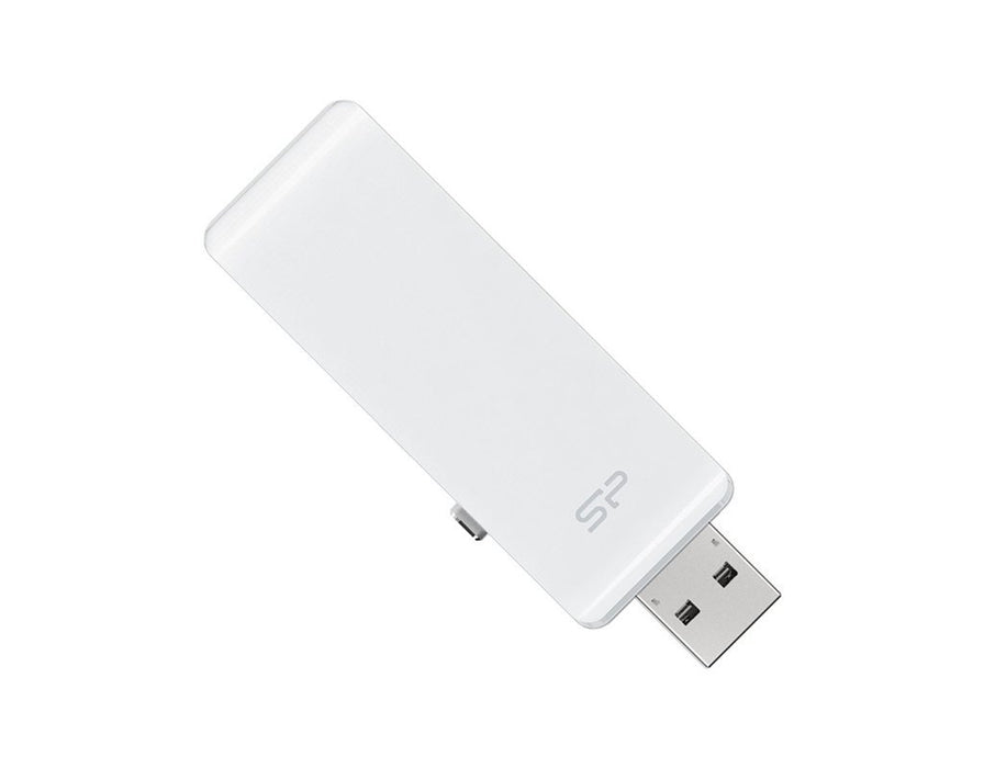 Silicon Power Z30 OTG for (IPOD,IPHONE,IPAD) (32GB)- White - Poundit