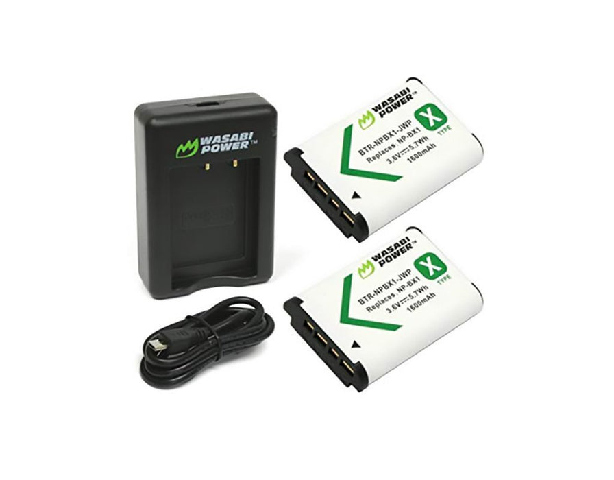 Wasabi Power Batteries for Sony NP-BX1 and Dual Charger