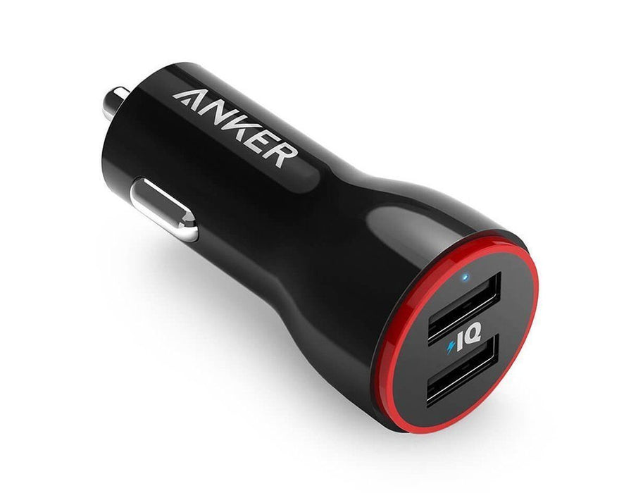 Anker PowerDrive 2 24W 2-Port Car Charger (Black) - Poundit