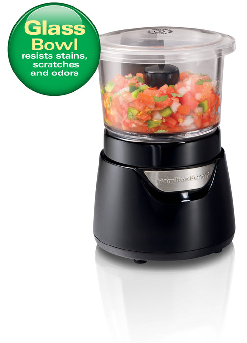 Hamilton Beach Stack & Press™ 3 Cup Glass Bowl Chopper (72860-PH)