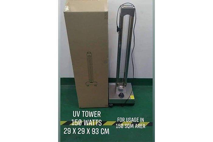 UVC Tower 150 Watts for 100-120 sqm (SaniHealth)