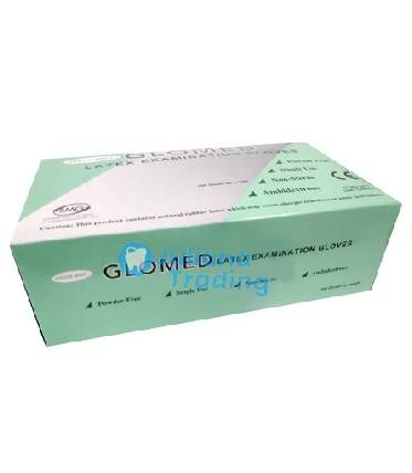 "Mint Latex Gloves Powder Free - Glomed ""Size: L"""