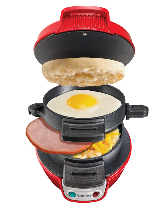 Hamilton Beach Breakfast Sandwich Maker-Red (25476-PH)
