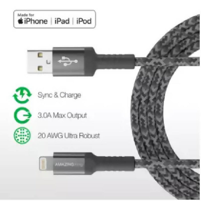 Amazingthing AT-LBS2 SupremeLink 2.2M 3.0A Lightning Bullet Shield Cable (MFI)