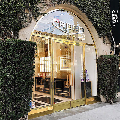 A Creed Boutique storefront.