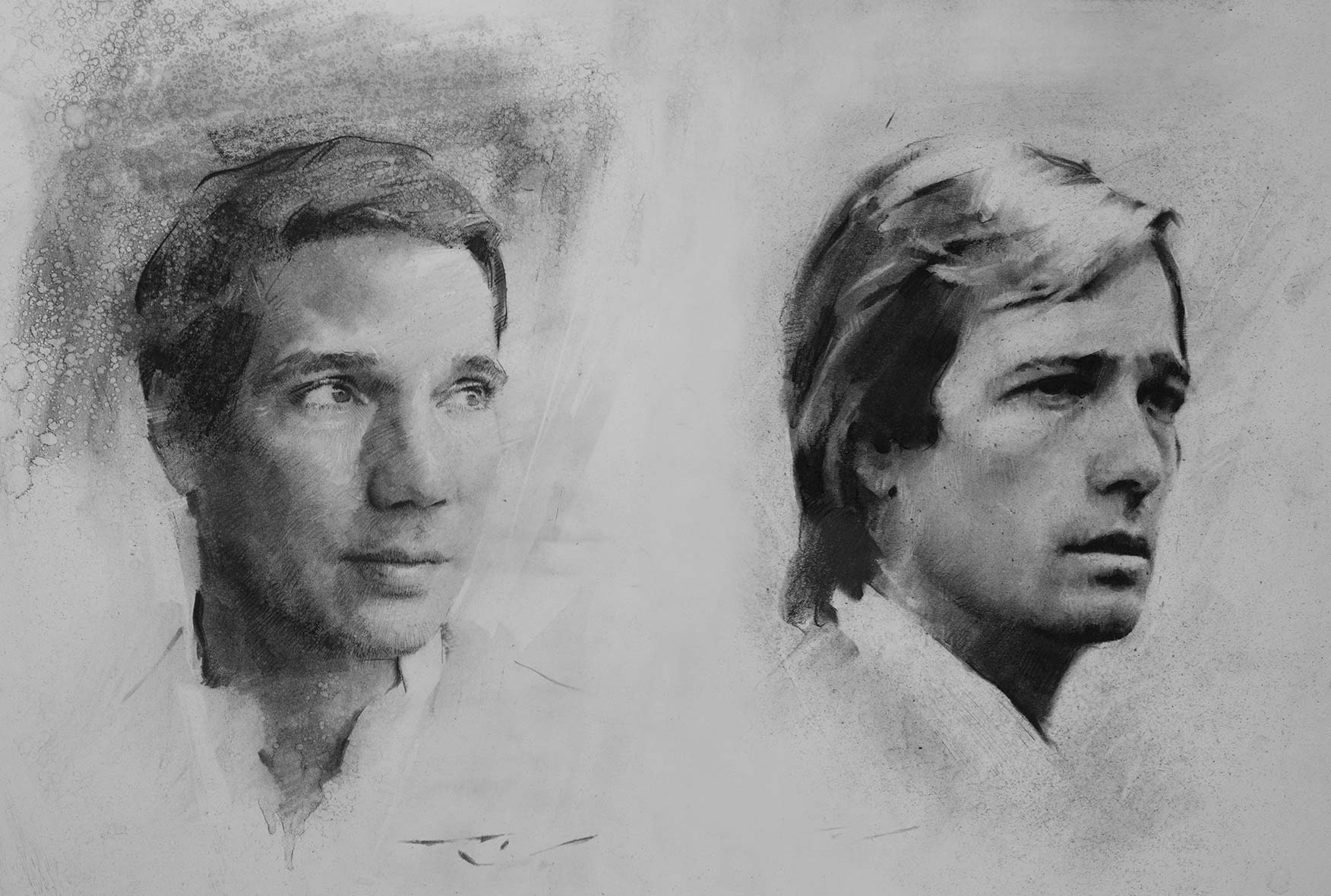 Sketches of Erwin and Olivier Creed