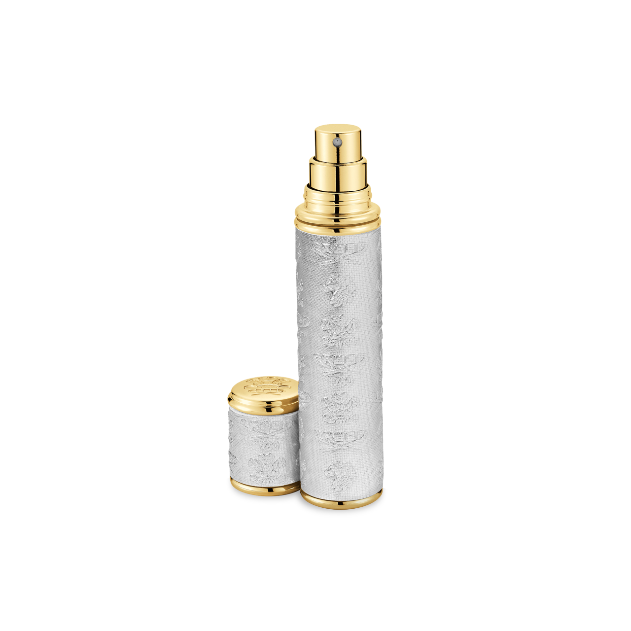 Silver With Gold Trim Pocket Atomizer 10ml