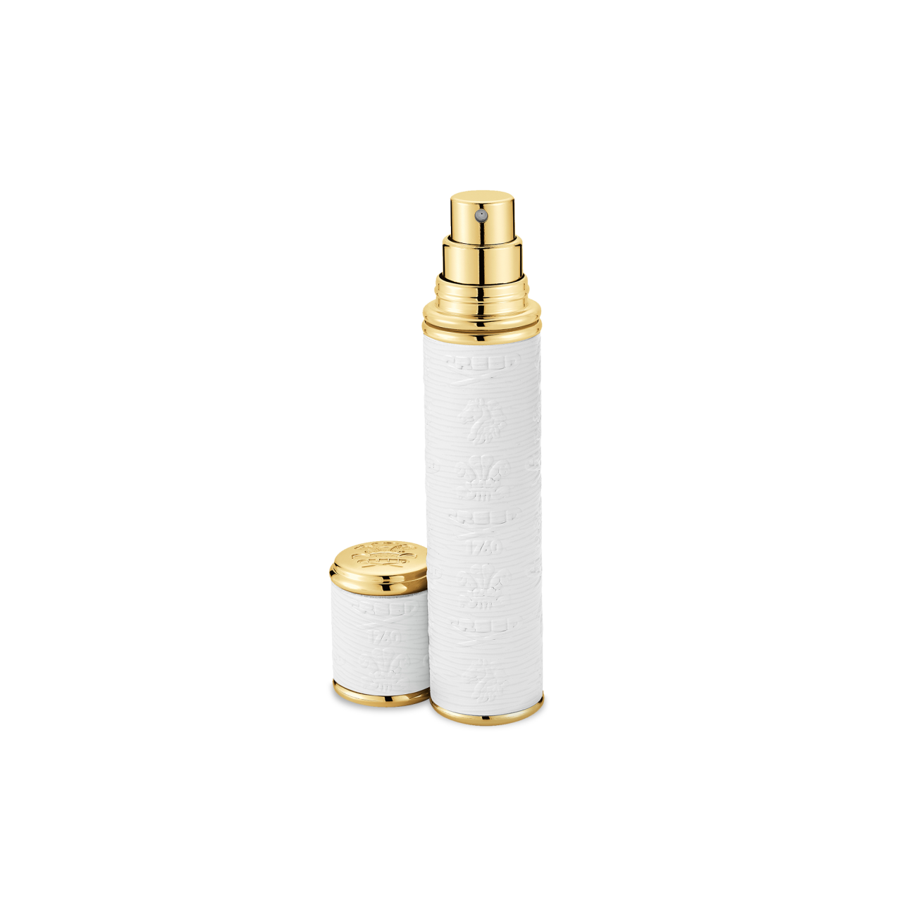 White With Gold Trim Pocket Atomizer