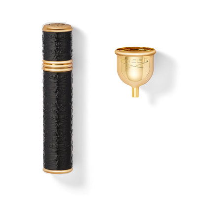 Black With Gold Trim Pocket Atomizer