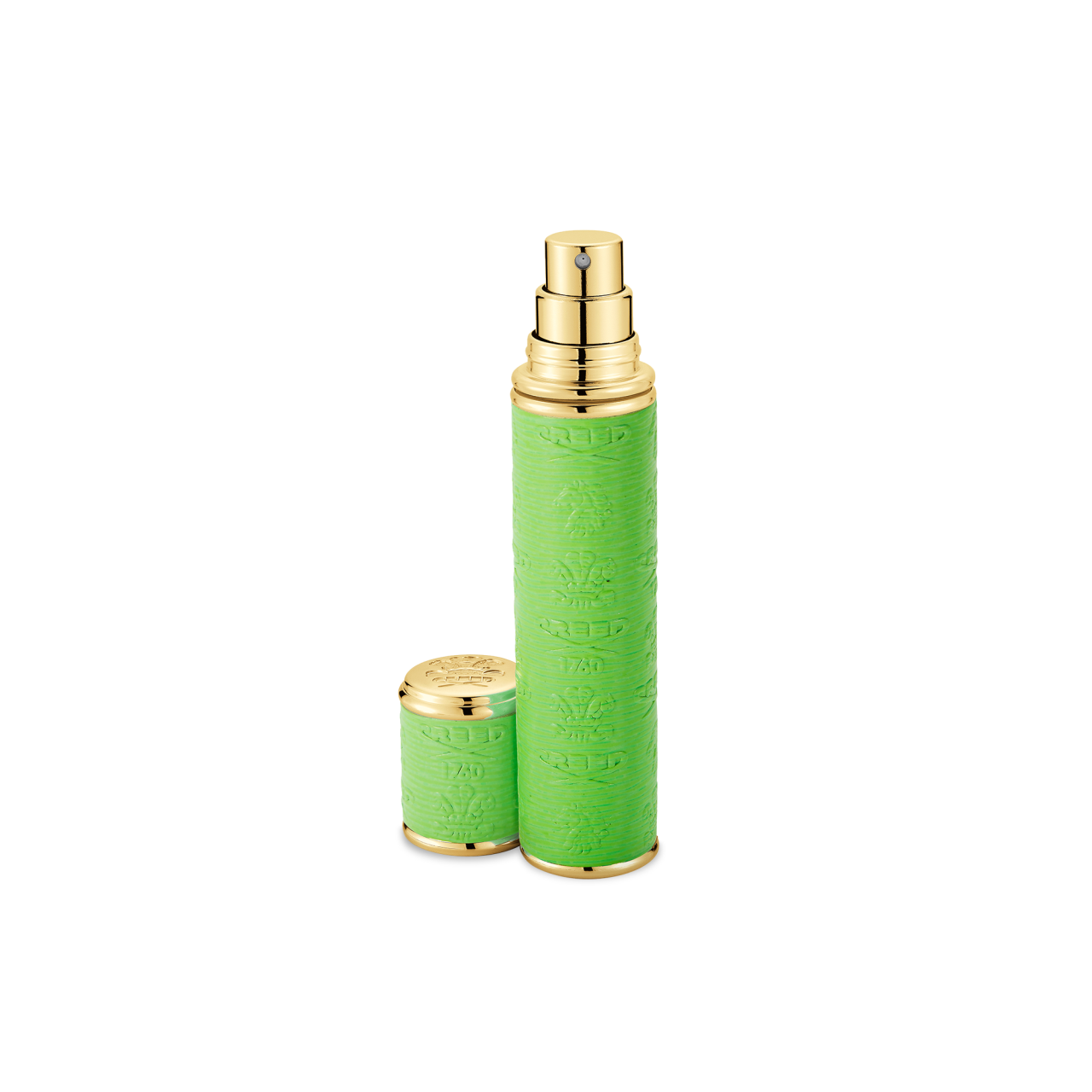 Neon Green With Gold Trim Pocket Atomizer