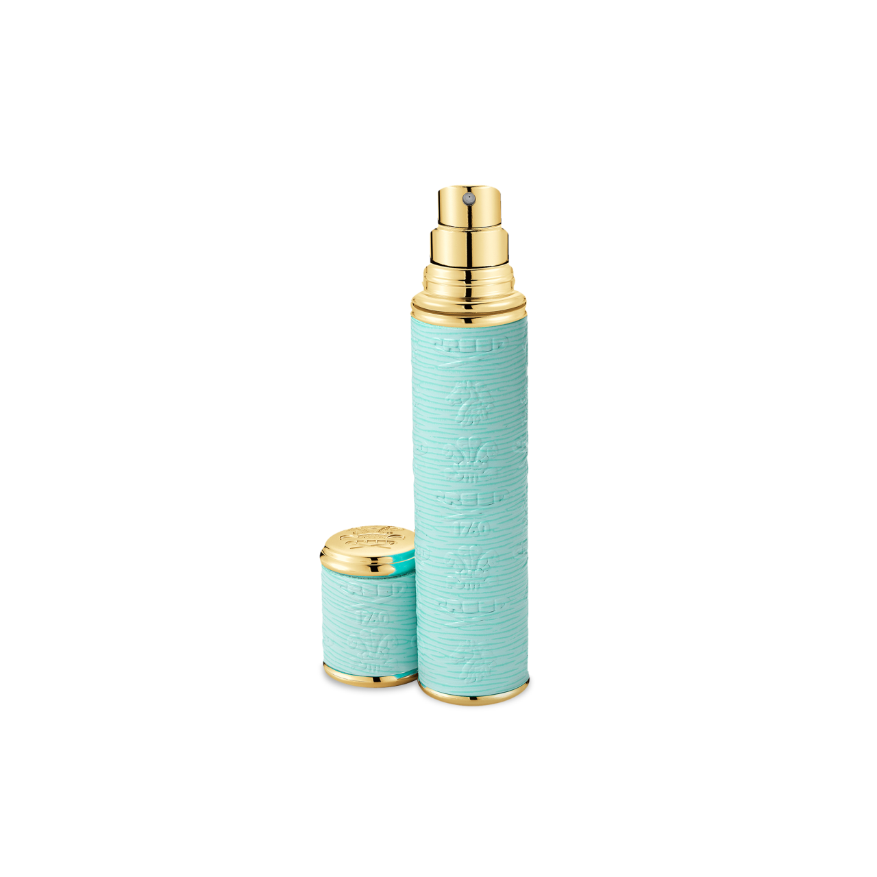 Turquoise With Gold Trim Pocket Atomizer