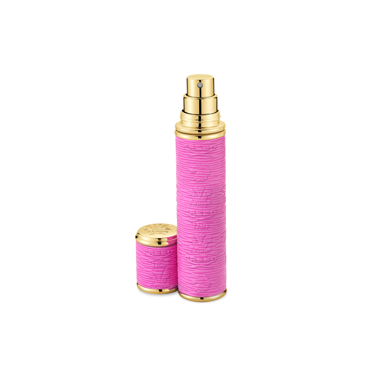 Dark Pink With Gold Trim Pocket Atomizer