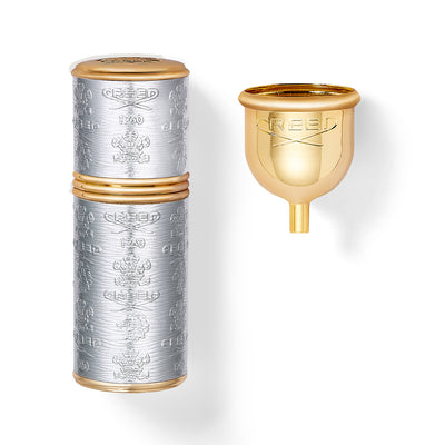 Silver With Gold Trim Deluxe Atomizer