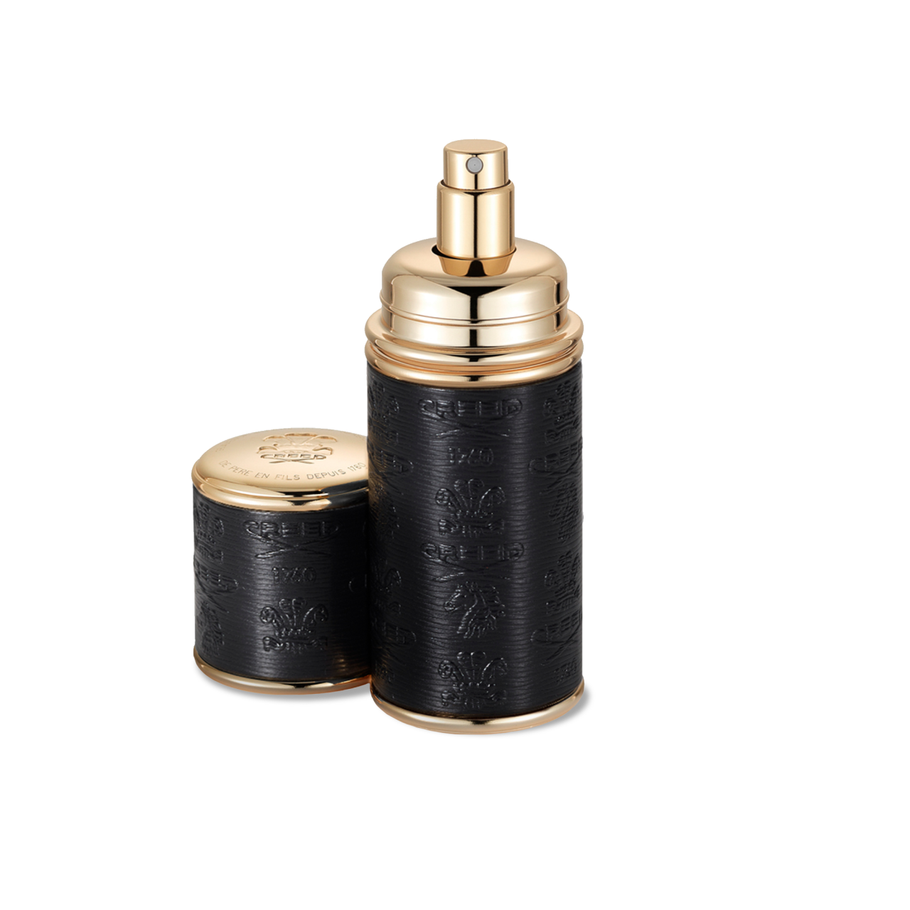 Black With Gold Trim Deluxe Atomizer