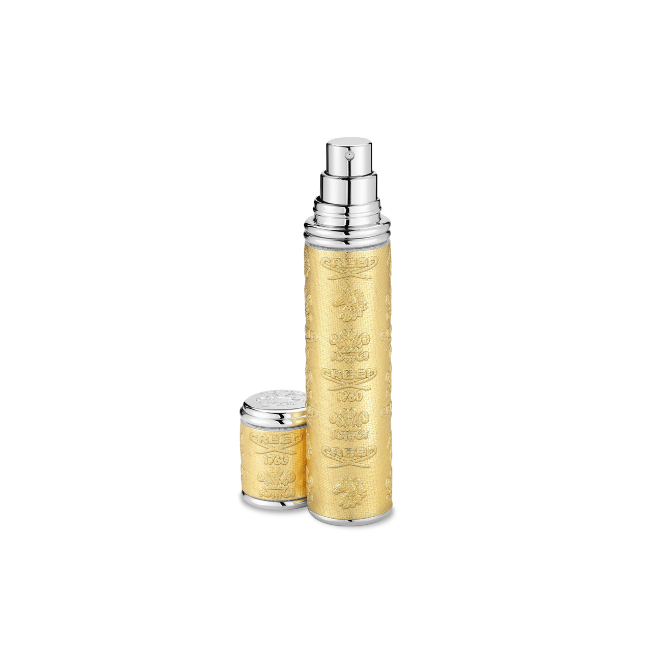 Gold With Silver Trim Pocket Atomizer