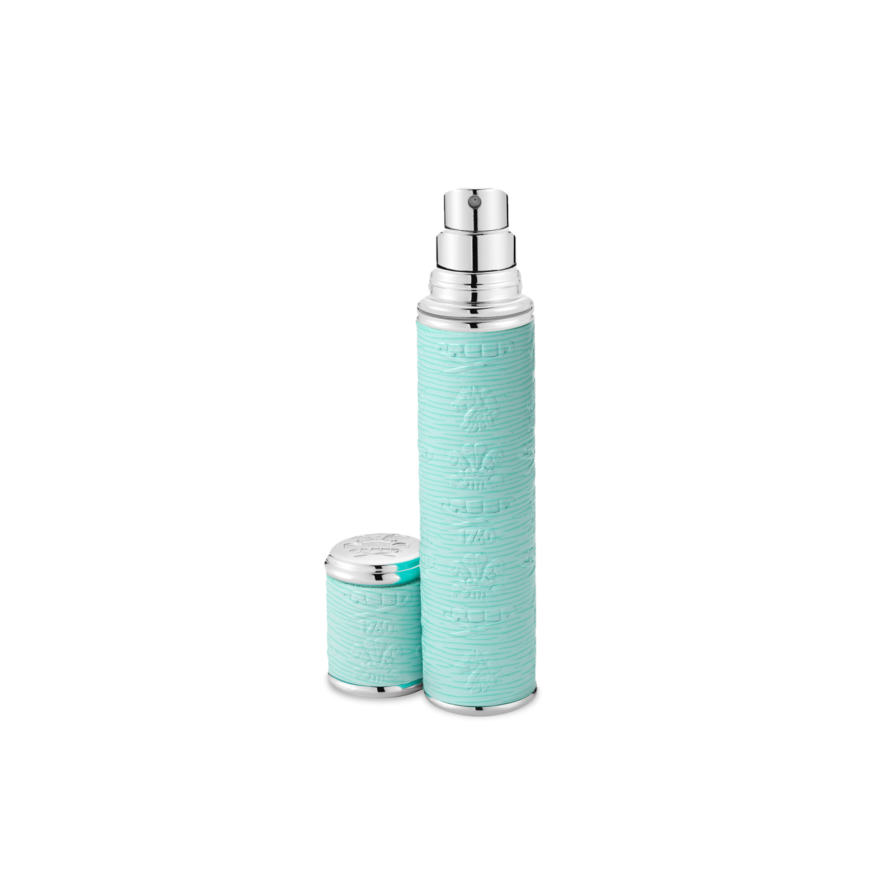 Turquoise With Silver Trim Pocket Atomizer