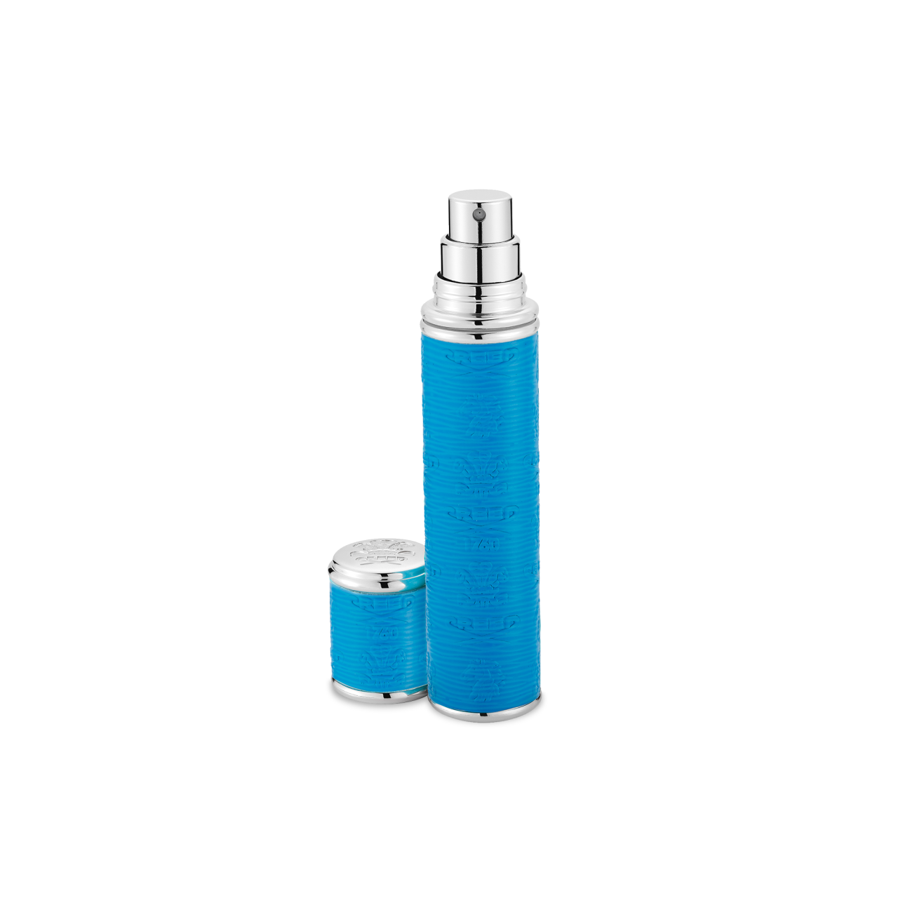 Neon Blue With Silver Trim Pocket Atomizer