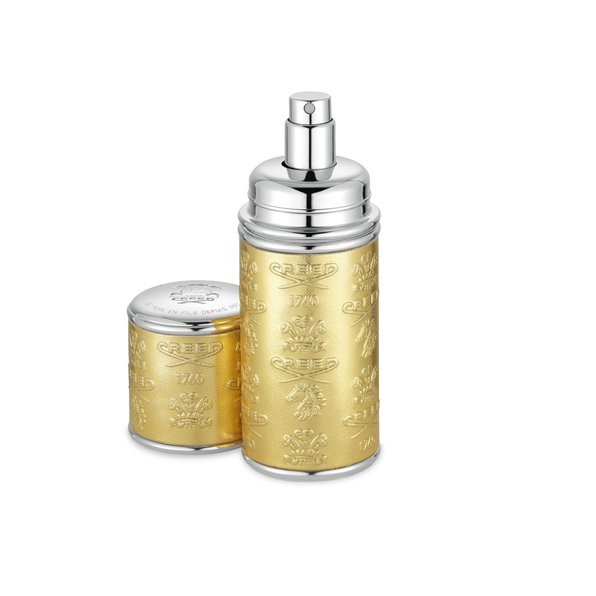Gold With Silver Trim Deluxe Atomizer