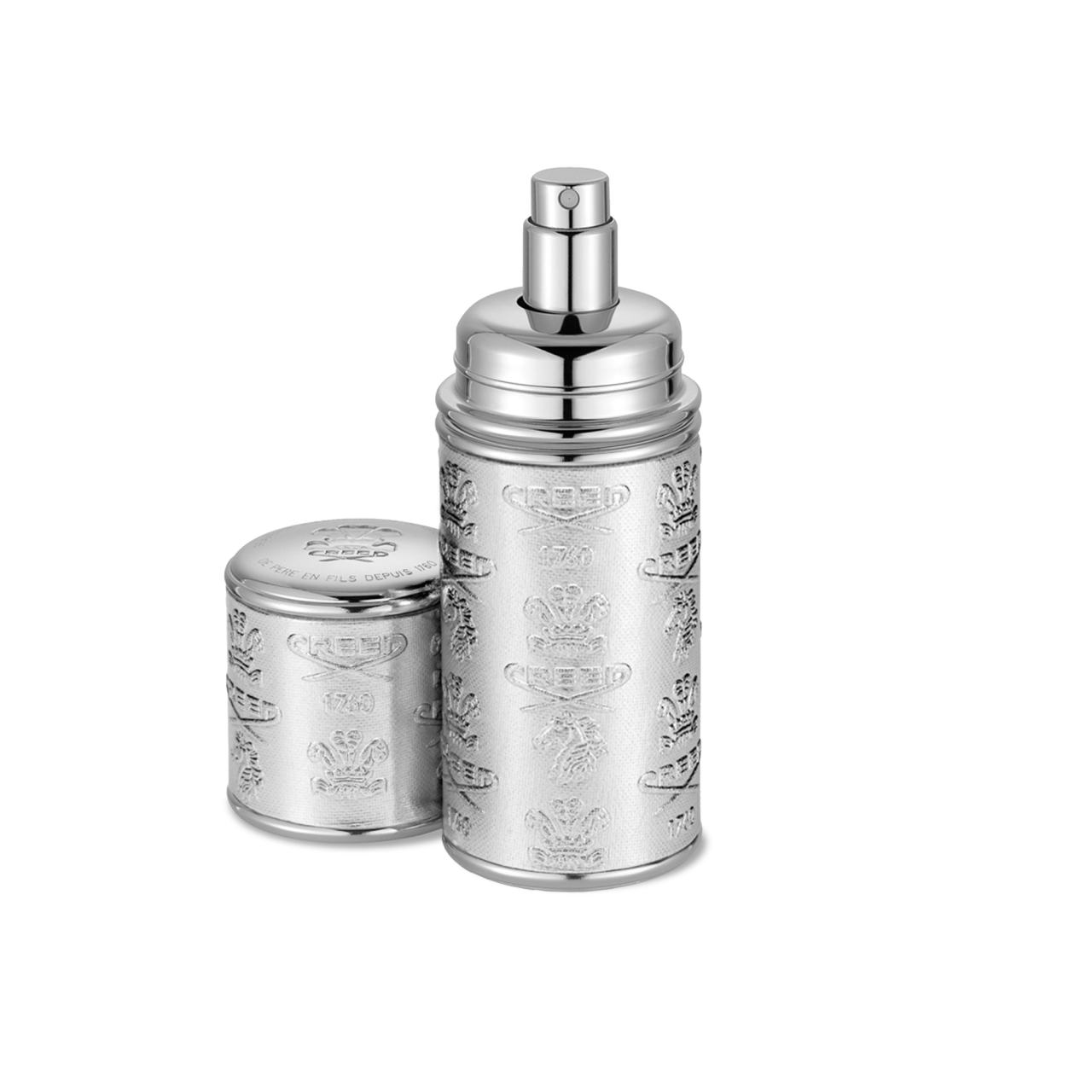 Silver With Silver Trim Deluxe Atomizer