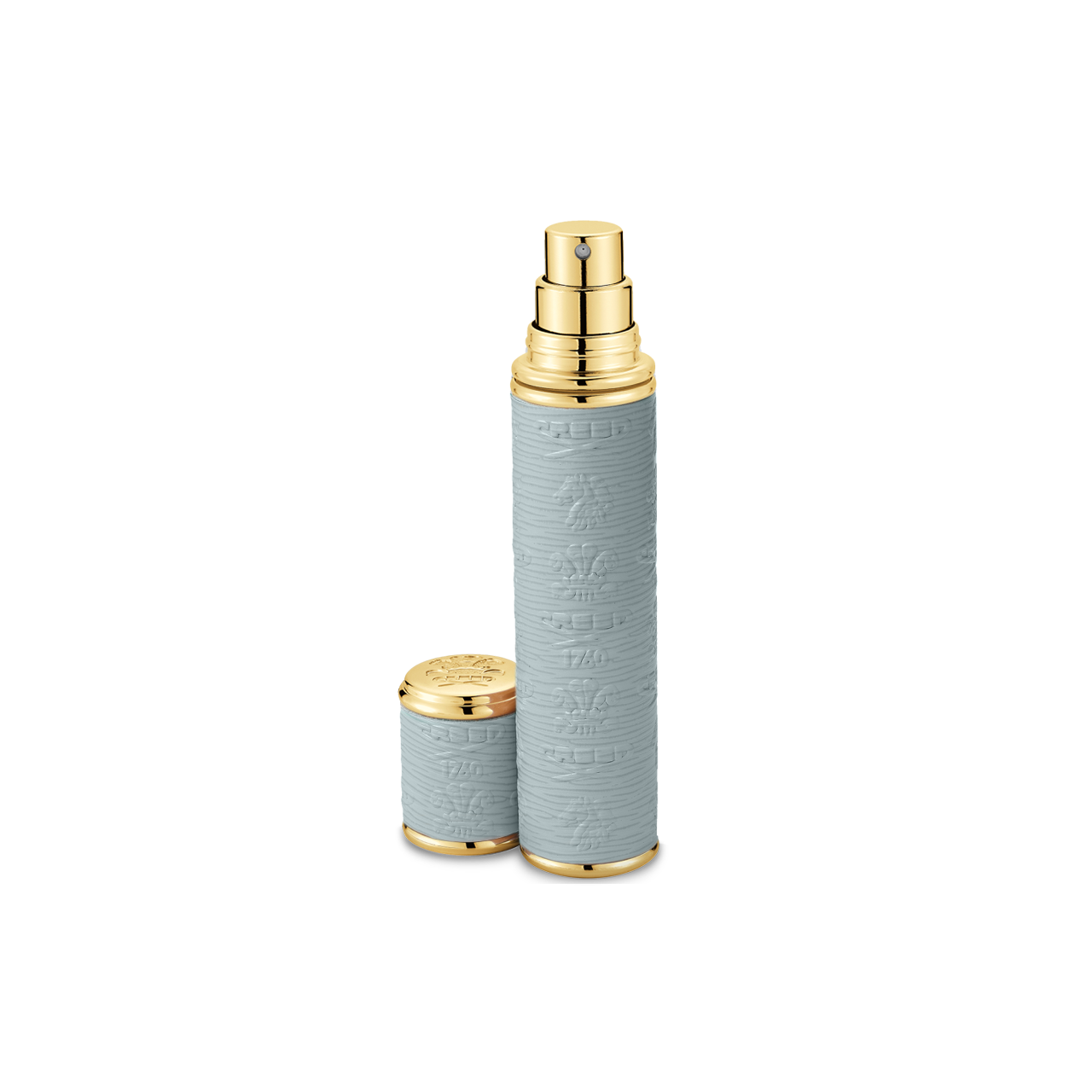 Grey With Gold Trim Pocket Atomizer