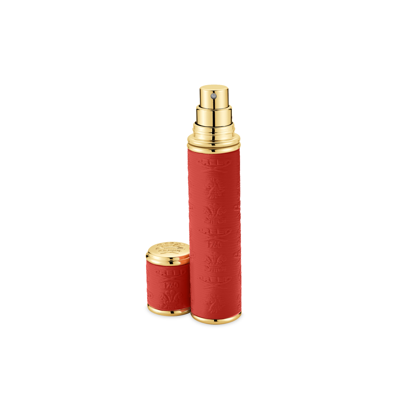 Red With Gold Trim Pocket Atomizer