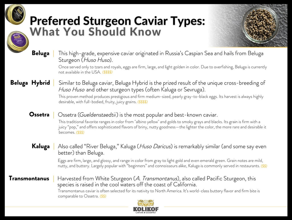 How to Choose the Best Caviar. Kolikof.com Has The Finest Selections.