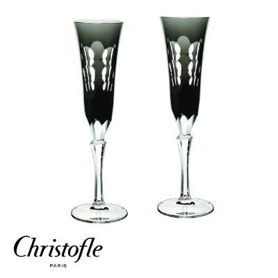 Christofle Kawali Champagne Flutes and Kolikof Caviar