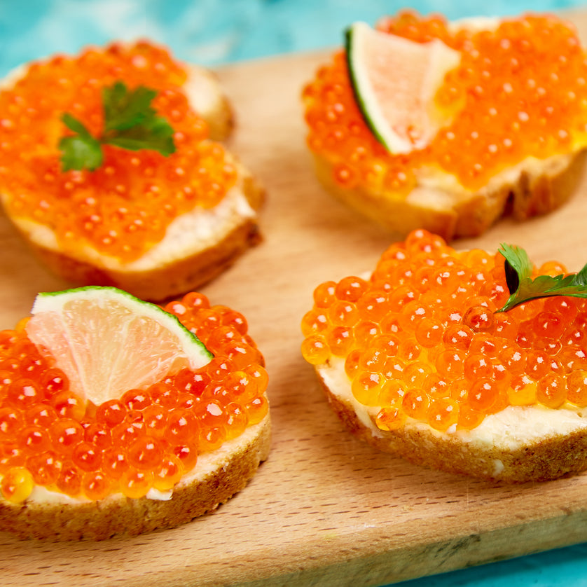 Best Trout roe (red caviar is at Kolikof.com