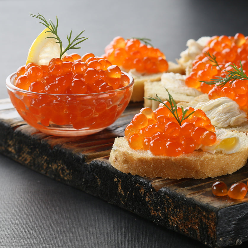 Order Salmon caviar (also called ikura, or salmon roe) online at Kolikof.com