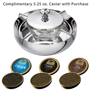 Christofle Caviar Serving Set with Osetra and Kaluga Kolikof Caviar
