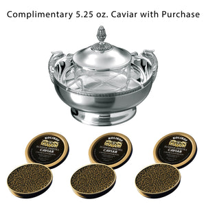 Free Caviar with Christofle Malmaison Caviar Server