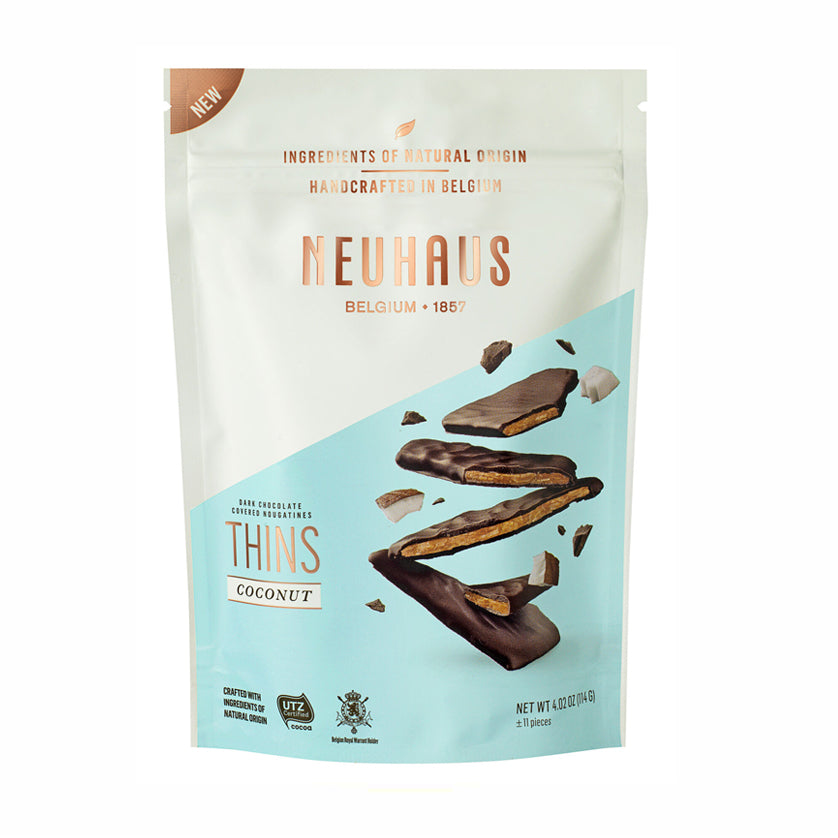 Neuhaus Dark Chocolate Nougatines Thins, Coconut