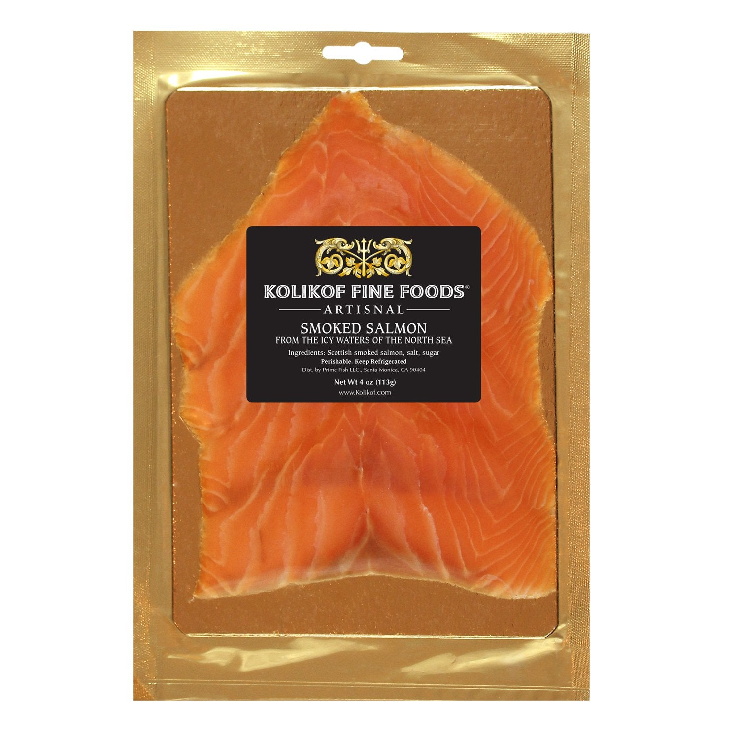 Smoked Salmon Kolikof Brand best lox D-cut 4oz