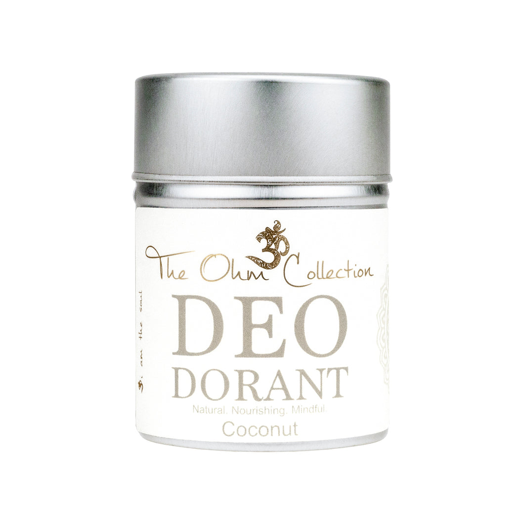 The Ohm Collection Deodorant Powder Coconut 50gr & 5gr