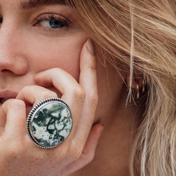 Lucrezia Tree Agate Ring | US 7.5 (UK P)