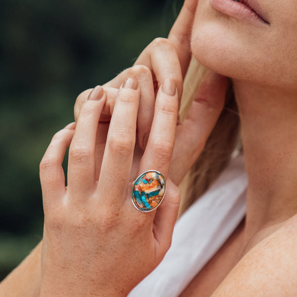 Nomi Spiny Oyster Turquoise Ring